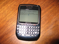 BlackBerry with notes