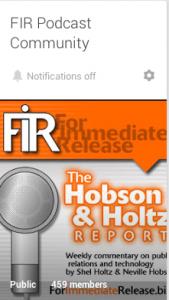 FIR Podcast community on Google+